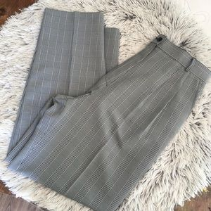 VINTAGE HIGH WAISTED PLAID PLEATED PANTS